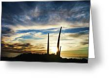 Sky Fingers Greeting Card