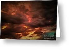 Sky Fury Greeting Card