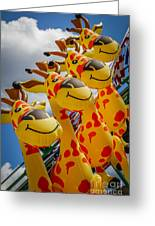 Sky Giraffes Greeting Card