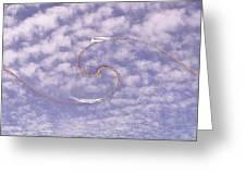 Sky High Sail Surfin Greeting Card