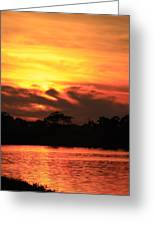 Sky Is On Fire Greeting Card