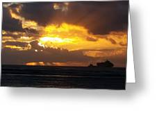 Sky On Fire  Greeting Card