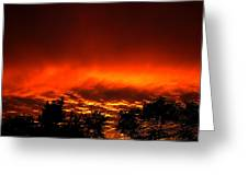 Sky On Fire Orange Glow Sunset Over Virginia Greeting Card