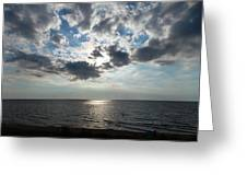 Sky Over Oval Beach Lake Michigan 1 Greeting Card