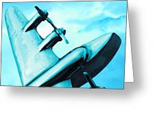 Sky Plane Greeting Card