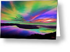 Sky Rays Greeting Card