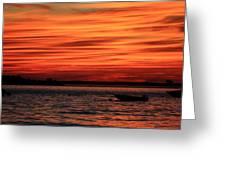 Sky Ripple Sunset Greeting Card