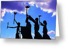 Sky Statues Greeting Card