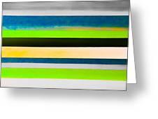 Sky Stripes 11 Greeting Card