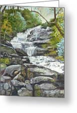 Sky Valley Waterfall Greeting Card