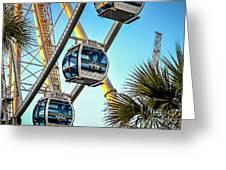 Sky Wheel Sunset Greeting Card