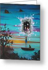 Sky Window Greeting Card by Roz Eve