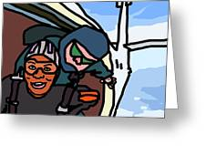 Skydiving Greeting Card by Jera Sky