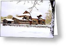 Skyland Farms In Winter Greeting Card