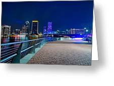 skyline and river coast scenes in Jacksonville Florida Greeting Card