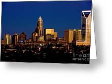 Skyline At Dusk Greeting Card