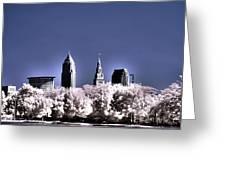 Skyline Cleveland, Ohio Greeting Card