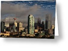 Skyline Fog Greeting Card