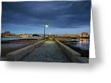 Skyline From The Walkway Cadiz Spain Greeting Card
