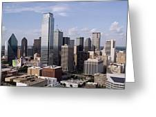 Skyline Of Dallas Texas On A Sunny Day Greeting Card