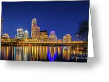 Skyline Of Downtown Austin Greeting Card
