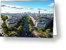 Skyline Of Paris, France Greeting Card