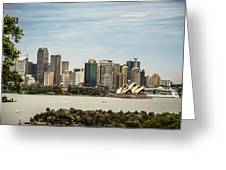 Skyline Of Sydney Downtown  Viewed From Taronga Hill, Australia Greeting Card