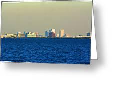 Skyline Of Tampa Bay Florida Greeting Card