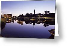 Skyline Over The R Garavogue, Sligo Greeting Card