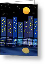 Skyline Reflections Greeting Card