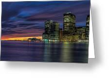 Skyline Sunset Greeting Card