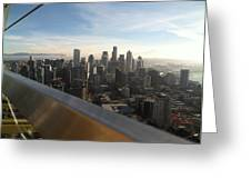 Skyline With A Purpose Greeting Card