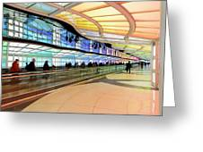 Sky's The Limit-underground Walkway Greeting Card