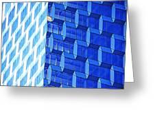 Skyscraper Blue Greeting Card