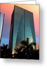 Skyscraper In Miami Greeting Card