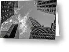 Skytops Manhattan Black And White Greeting Card