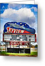 Skyview Drive-in Theater Greeting Card