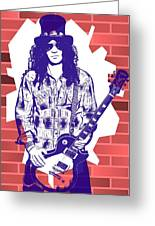 Slash Graffiti Tribute Greeting Card