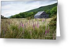 Slate Cabin In Wales Greeting Card
