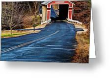 Slate Covered Bridge Greeting Card