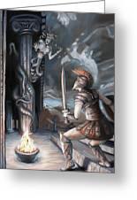 Slay The Gorgon Greeting Card