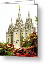 Slc Temple Angle Greeting Card
