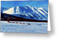 Sledding In Russia Greeting Card