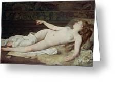 Sleep Greeting Card by Louis Joseph Raphael Collin