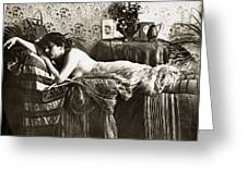 Sleeping Beauty, C1900 Greeting Card