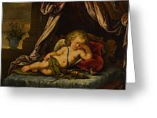 Sleeping Cupid Greeting Card