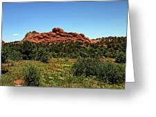 Sleeping Giant At The Garden Of The Gods Greeting Card