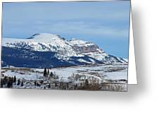 Sleeping Indian Mountain Greeting Card
