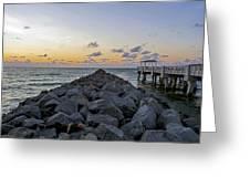 Sleeping On South Beach Greeting Card