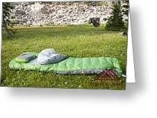 Sleeping Pads Review Greeting Card